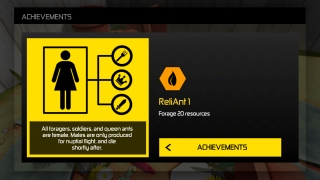 Kids earn achievement badges for completing levels.