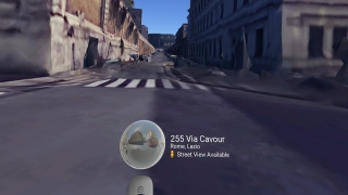 Automatically generated 3D models can diminish the experience up close, so switch to Street View when possible.