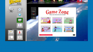 In the Game Zone, students use their typing skills to play word games.