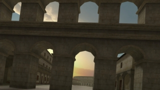 The 3D model of a Roman aqueduct