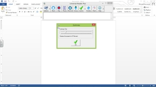 The summary feature lets you adjust how far to compress the document.