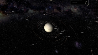 Players can zoom in to individual planets and even moons or smaller objects.