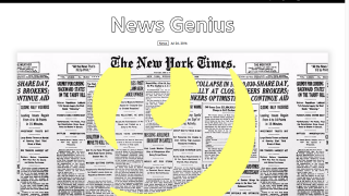 Use News Genius to give students a chance to annotate news stories.