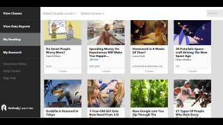 There's a vast library to search through as you add stories to your digital bookshelf.
