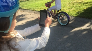 Ride a bike and collect data on your device.