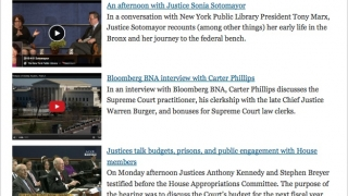 Collection of videos on a range of topics related to the Supreme Court.