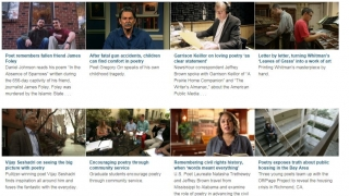 Working hand-in-hand with PBS, there are videos from the Newshour Poetry Series.