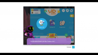 VidMaker's first tutorial automatically plays before getting started.