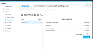 Easily grade assignments for later input into your gradebook.