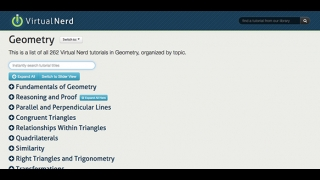 More than 250 geometry videos are organized by topic.