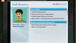 Learn about each of your co-workers in the staff directory.