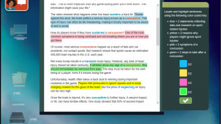 Analyze science-based documents as part of a student assessment.