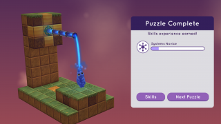 As players complete each puzzle, they earn points toward a set of achievements.