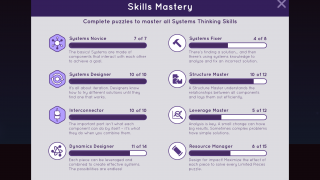 As students progress in the game, they fill up skill mastery bars.