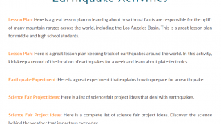 Activities include links to lesson plans on outside sites.