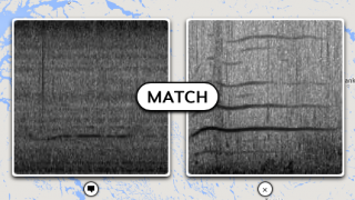 Clicking on a possible match places the clip at the center of the screen, next to the main sound.