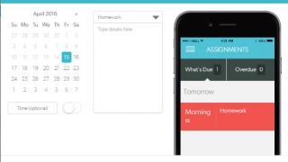 Easily communicate upcoming events and assignments