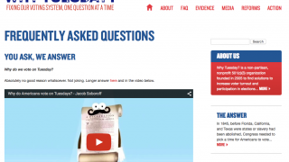 Why Tuesday? is a website that explores voting rights and voting practices in the United States.