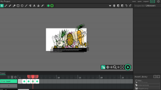 Using the Onion Skin feature, students can see placement of objects in the previous and next frames.