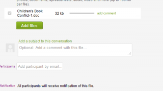 Upload files for your groups to review.