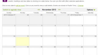 A calendar can help with after-school events or classroom activities.