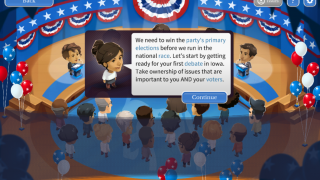 Students can choose to campaign in the primary as a tutorial.