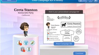 After you set up your platform and slogan, you can print your campaign kit.