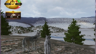 Travel in a pack with your mate, and learn how to interact with other wolves.