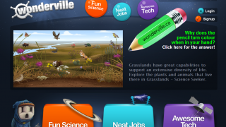 Wonderville hosts science games and videos.