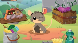Silly distractor game where kids get some limited interaction with an animal.