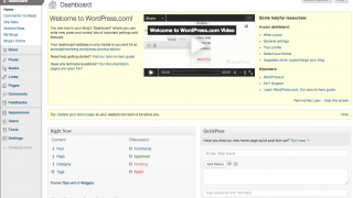 The blog dashboard offers a lot of control and may take some practice to master.