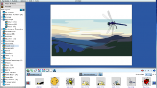 The writing tool is heavy on the clip art and feels clunky and outdated.