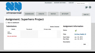 Teachers can also keep track of student assignments from the dashboard.
