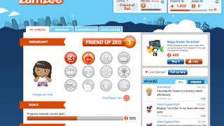 Kids see their data, challenges, goals, and rewards on the Zamzee user page.
