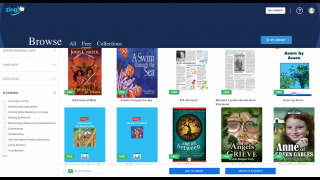 Teachers browse free ebook titles by a large variety of filters, including e-learning features.