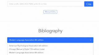 Add sites by URL, ISBN, and more. The site can then convert to citation in thousands of styles.