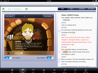 Subtitles help students connect the animations with the text and offer additional support.