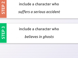 Students can write about multiple scenarios and keep track of them within the app.