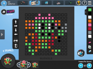 Character creation in Bloxels.