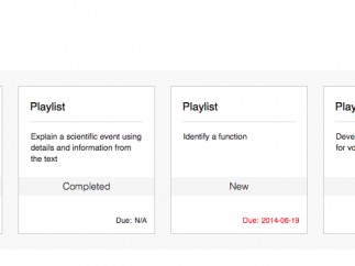 Students find an organized playlist when they log in.