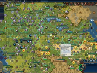 By the middle to late game, though, even the strategic view is super cluttered and hard to read.