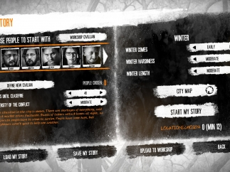 Setting up a custom game lets players choose difficulty, length, and which characters and locations to use.