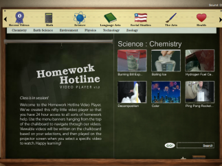 Relevant videos span the science courses with interesting information.