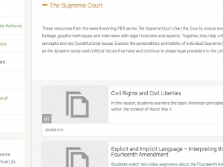 Users can search by individual case or topic.