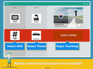 Users can combine targeted skills and specific interests to create personalized activities.