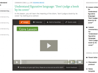Lessons include videos, slides, copies of the text, and other supports.