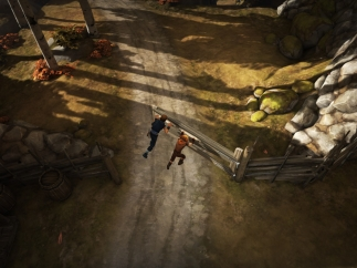The player controls the two brothers independently, but they must often work together on the same obstacle.