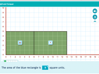 Split and Conquer helps develop multiplication strategies.
