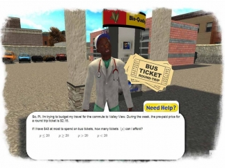 Characters ask the player to solve problems.