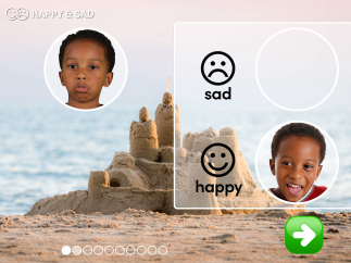 Photographs of facial expressions provide engaging ways for students to practice socioemotional tasks.